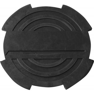 Опора резиновая с отбортовкой для подкатных домкратов Ø-116 мм Н-18 мм